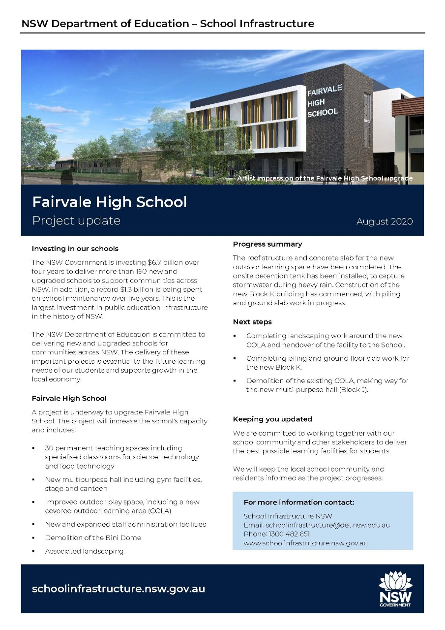 Fairvale Building Works Update