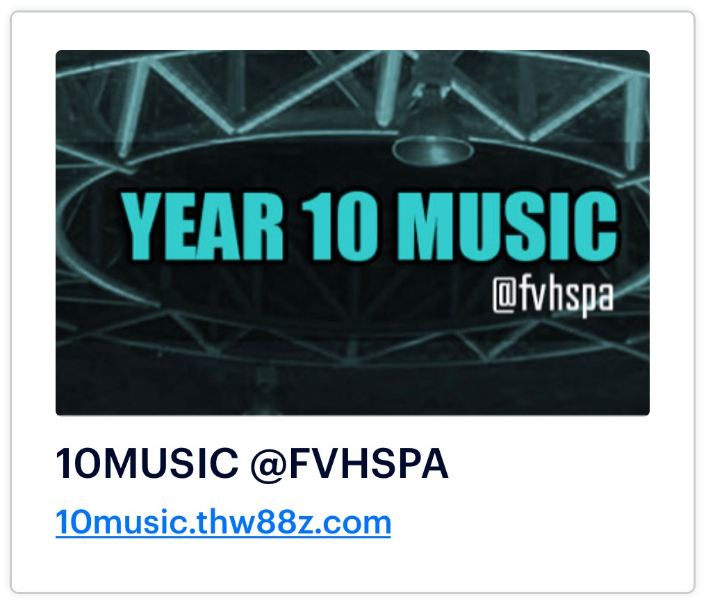 Year 10 music site.
