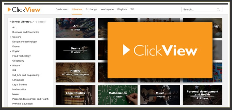 Link to Clickview.