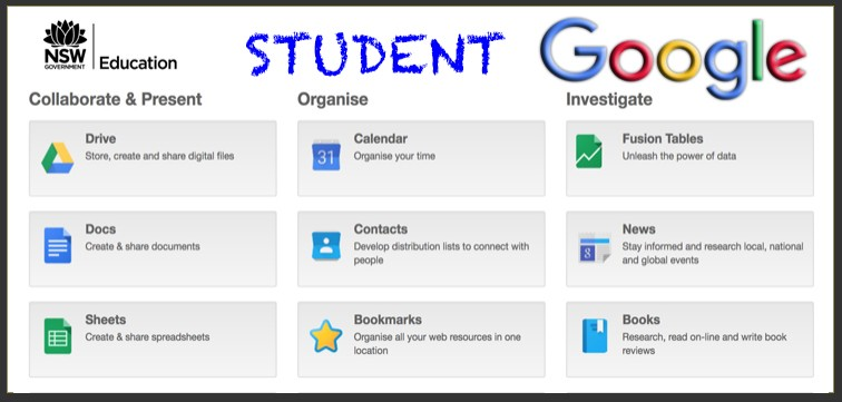 Link to the Google suite for students.