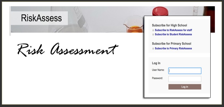 Link to Risk assessment.