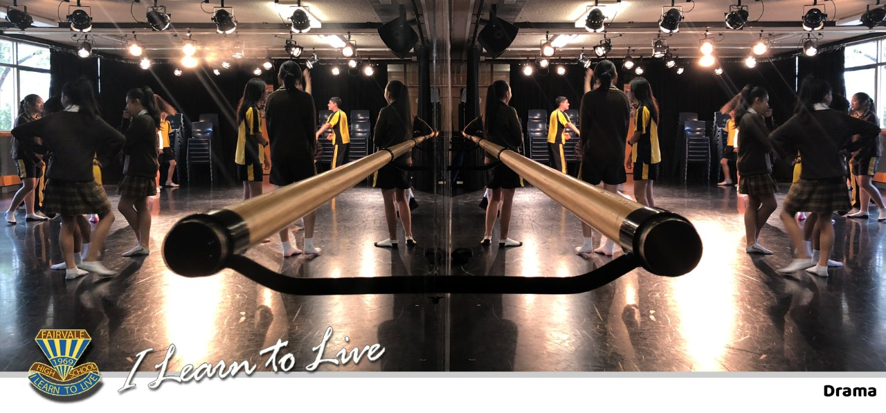 Foley Centre Dance and Drama Studio with ballet barres and light cans