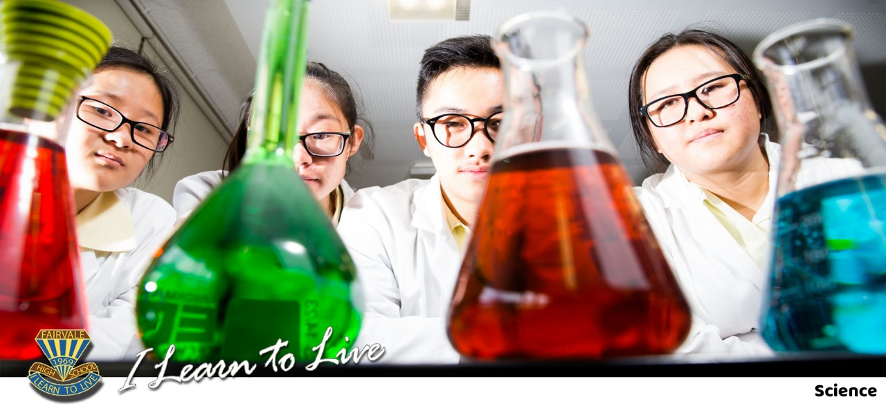 Banner image of the Science page